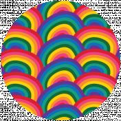 Rainbow Print Circle8
