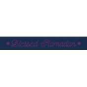 Ramadan Label Blessed Ramadan