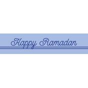 Ramadan Label Happy Ramadan