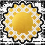 Ramadan Flower Gold