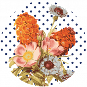 Seriously Floral Print Circle 14