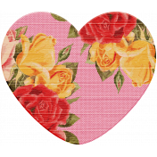 Seriously Floral Wood Heart 1