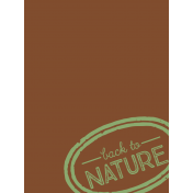 Back To Nature Pocket Card 07 3x4