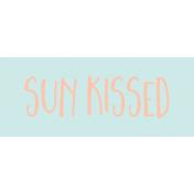 Label Sun Kissed