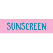 Label Sunscreen