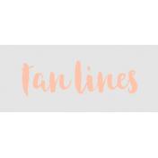 Label Tan Lines