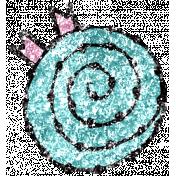Summer Day Glitter Doodle 6c