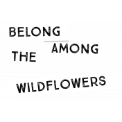 Wildflower Label 4