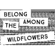 Wildflower Label 4