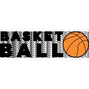 Sports Word Basketball Word Art