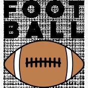 Sports Word Football Word Art