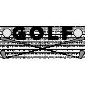 Sports Word Golf Word Art