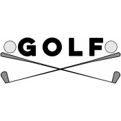 Sports Word Golf Word Art