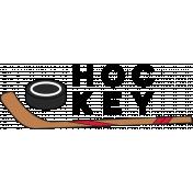 Sports Word Hockey Word Art