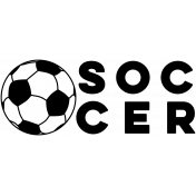 Sports Word Soccer Word Art
