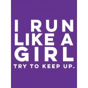 Sports Pocket Card 05 3x4 Run Like A Girl