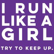 Sports Pocket Card 05 4x4 Run Like A Girl