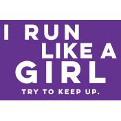Sports Pocket Card 05 4x6 Run Like A Girl