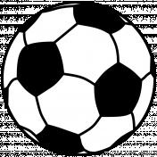 Sports Print Soccer Ball
