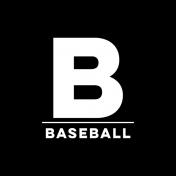 Sports Print Circle Word Baseball