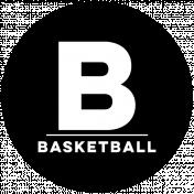 Sports Print Circle Word Basketball