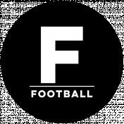 Sports Print Circle Word Football