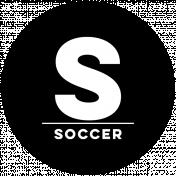 Sports Print Circle Word Soccer