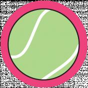 Sports Print Circle Tennis