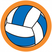Sports Print Circle Volleyball