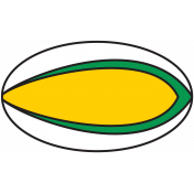 Sports Print Rugby Ball