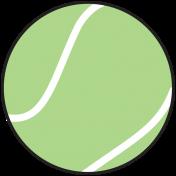 Sports Print Tennis Ball