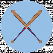 Sports Print Circle Baseball