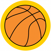 Sports Print Circle Basketball