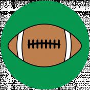 Sports Print Circle Football