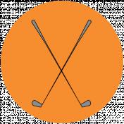 Sports Print Circle Golf 2