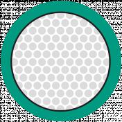 Sports Print Circle Golf