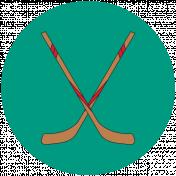 Sports Print Circle Hockey