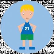 Sports Print Circle Kid 7