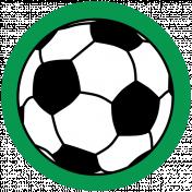 Sports Print Circle Soccer