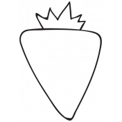 Outline Strawberry Illustration