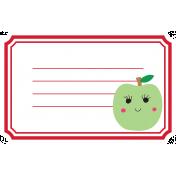 Cute Fruits Print Tag Apple