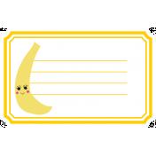 Cute Fruits Print Tag Banana
