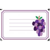Cute Fruits Print Tag Grape