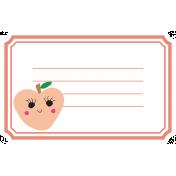 Cute Fruits Print Tag Peach