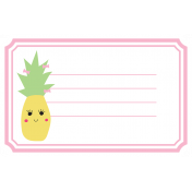 Cute Fruits Print Tag Pineapple