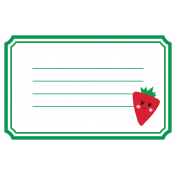 Cute Fruits Print Tag Strawberry