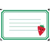 Cute Fruits Print Tag Strawberry