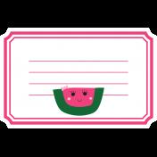 Cute Fruits Print Tag Watermelon