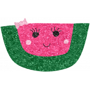 Cute Fruits Glitter Watermelon