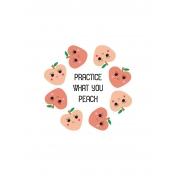 Cute Fruits Art Print 11 5x7